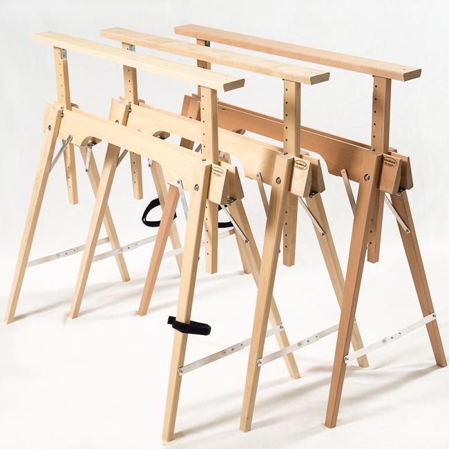 Tischbock Baumarkt der höhenverstellbare faltbock aus holz leicht stabil stylisch